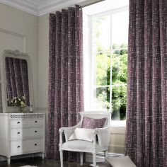 Vera Berry Purple Line Made to Measure Curtains