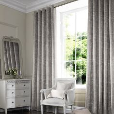 Vera Silver Grey Line Made to Measure Curtains