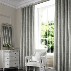 Teagan Sage Green Yellow Line Made to Measure Curtains