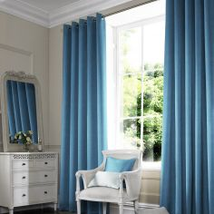 Shelby Denim Blue Made to Measure Curtains