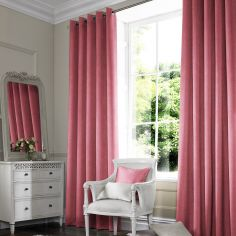Shelby Blush Red Pink Terracotta Made to Measure Curtains