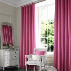 Shelby Fuchsia Red Pink Terracotta Made to Measure Curtains