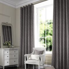 Melanie Grey Black Made to Measure Curtains