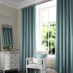 Melanie Teal Blue Made to Measure Curtains
