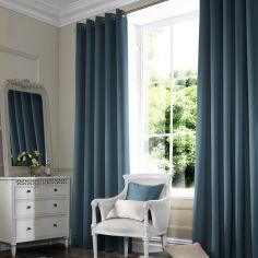 Hadley Teal Blue Made to Measure Curtains