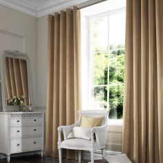 Hadley Gold Natural Made to Measure Curtains