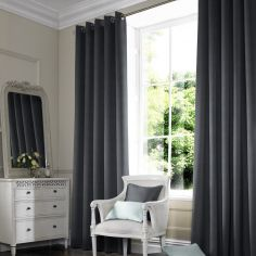 Hadley Black Grey Made to Measure Curtains