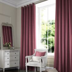 Hadley Mulberry Red Pink Terracotta Made to Measure Curtains