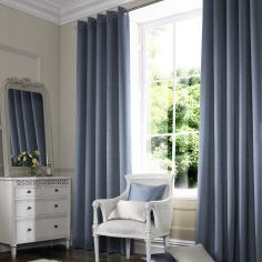 Hadley Steel Blue Made to Measure Curtains