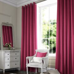 Hadley Fuschia Red Pink Terracotta Made to Measure Curtains