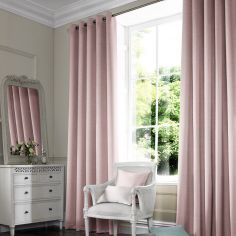 Hadley Baby Pink Red Terracotta Made to Measure Curtains
