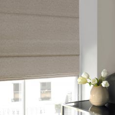 Camryn Wheat Beige Cream Roman Blind