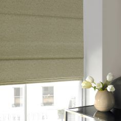 Camryn Apple Green Yellow Roman Blind