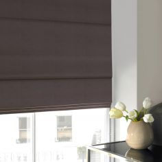 Veronica Slate Black Grey Roman Blind