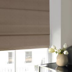 Veronica Taupe Natural Roman Blind