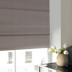 Veronica Pebble Silver Roman Blind