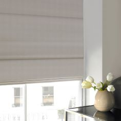 Veronica Ivory Beige Cream Roman Blind