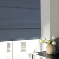 Veronica Sky Blue Roman Blind
