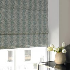 Morgan Teal Blue Roman Blind