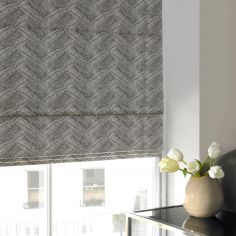 Morgan Flint Black Grey Roman Blind