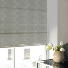 Morgan Moonstone Silver Roman Blind