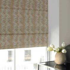 Morgan Dijon Green Yellow Roman Blind