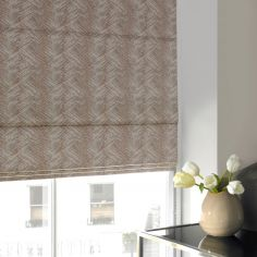 Morgan Blush Red Pink Terracotta Roman Blind