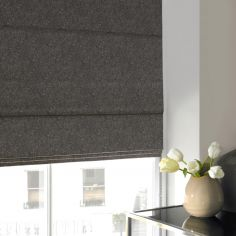 Ainsley Slate Black Grey Roman Blind