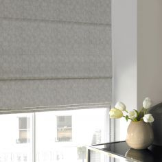 Ainsley Dove Silver Roman Blind