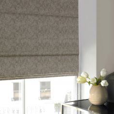 Ainsley Taupe Natural Roman Blind