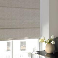 Ainsley Champagne Beige Cream Roman Blind