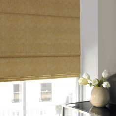 Ainsley Sunshine Green Yellow Roman Blind