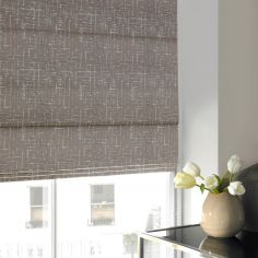 Vera Pewter Black Grey Line Roman Blind