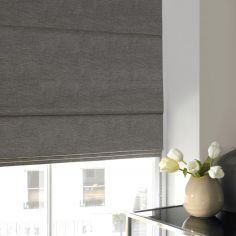 Makayla Steel Black Grey Roman Blind