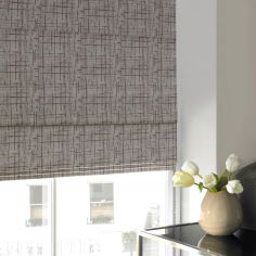 Teagan Plum Purple Line Roman Blind