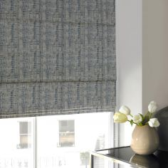 Teagan Sky Blue Roman Blind