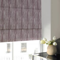 Madison Plum Purple Roman Blind