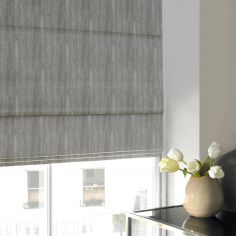 Madison Fog Silver Roman Blind