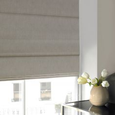 Shelby Ecru Beige Cream Roman Blind