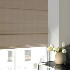 Shelby Wheat Natural Roman Blind