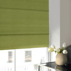 Shelby Grass Green Yellow Roman Blind