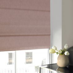 Shelby Rose Red Pink Terracotta Roman Blind