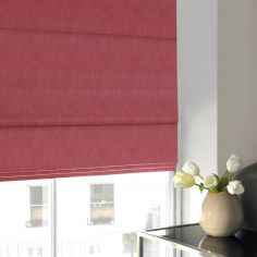 Shelby Blush Red Pink Terracotta Roman Blind
