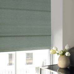 Shelby Spa Blue Roman Blind