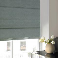 Shelby Mineral Blue Roman Blind