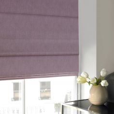 Shelby Heather Purple Roman Blind
