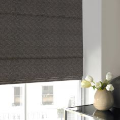 Melanie Grey Black Grey Roman Blind