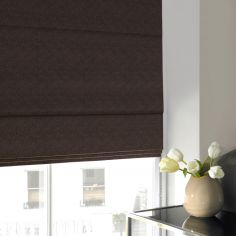 Melanie Chocolate Natural Roman Blind