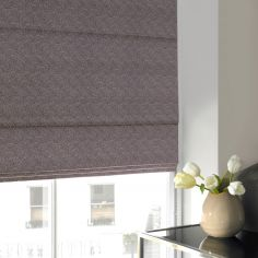 Melanie Mauve Purple Roman Blind