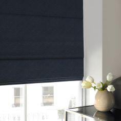 Melanie Midnight Blue Roman Blind
